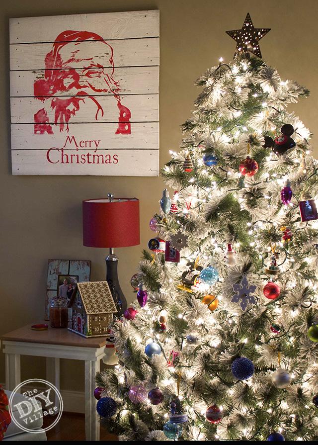 Pottery Barn Inspired Santa Artwork