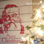 Pottery Barn Inspired Santa Artwork