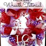Valentine Wreath: tutorial
