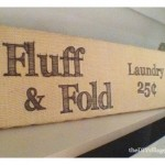 Laundry Sign Tutorial; {Nailed It!}
