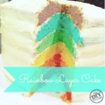 Rainbow Cake … Layered Birthday Fun!