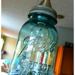 Old Mason Jar Hanging Light