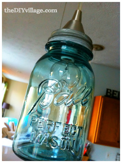 Ball Jar Pendant Light; {DIY Pendant Light}