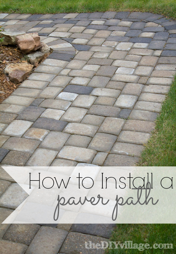 Paver path hard work but worth every sore muscle the diy village installing a paver path can be a lot of work but is totally worth every sore solutioingenieria