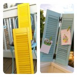 DIY Greeting Card Display { Repurposed Shutters }