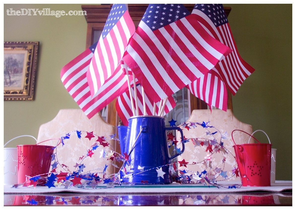 4th of july decor table centerpiece outdoor for 4th of july decorating ideas for outside
