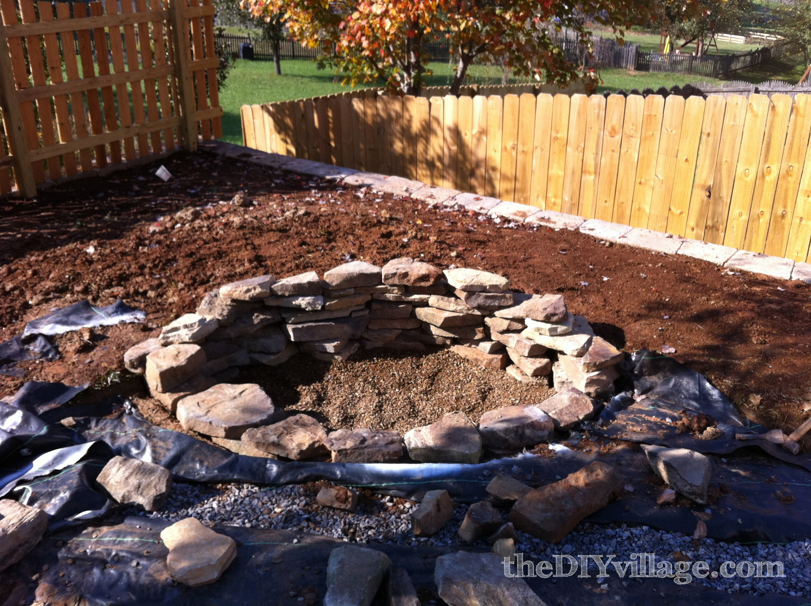 building a stacked stone fire pit the diy village