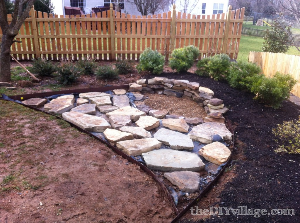 building a stacked stone fire pit the diy village. Black Bedroom Furniture Sets. Home Design Ideas