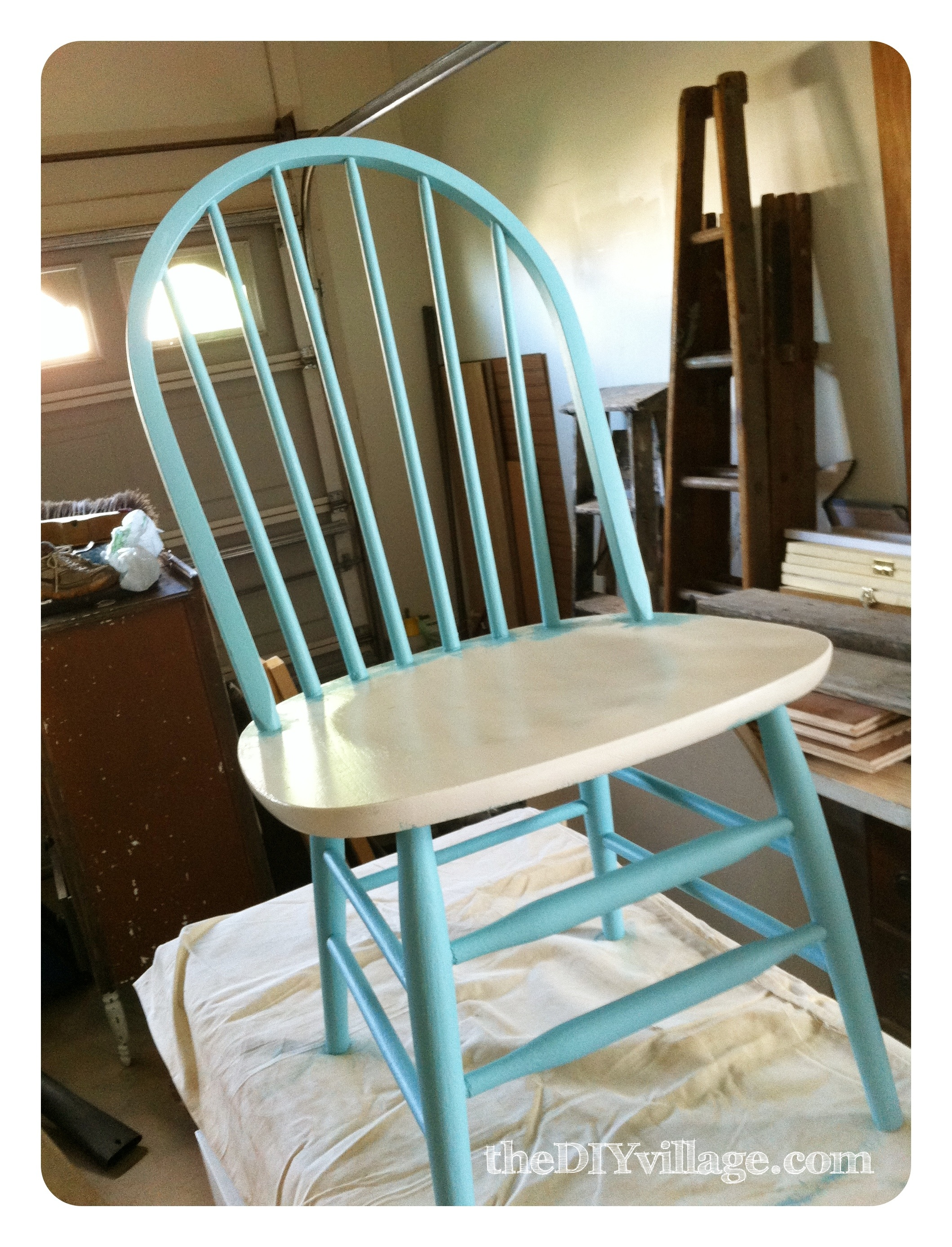 Chair & PB Inspired Number Chair Makeover - the DIY village