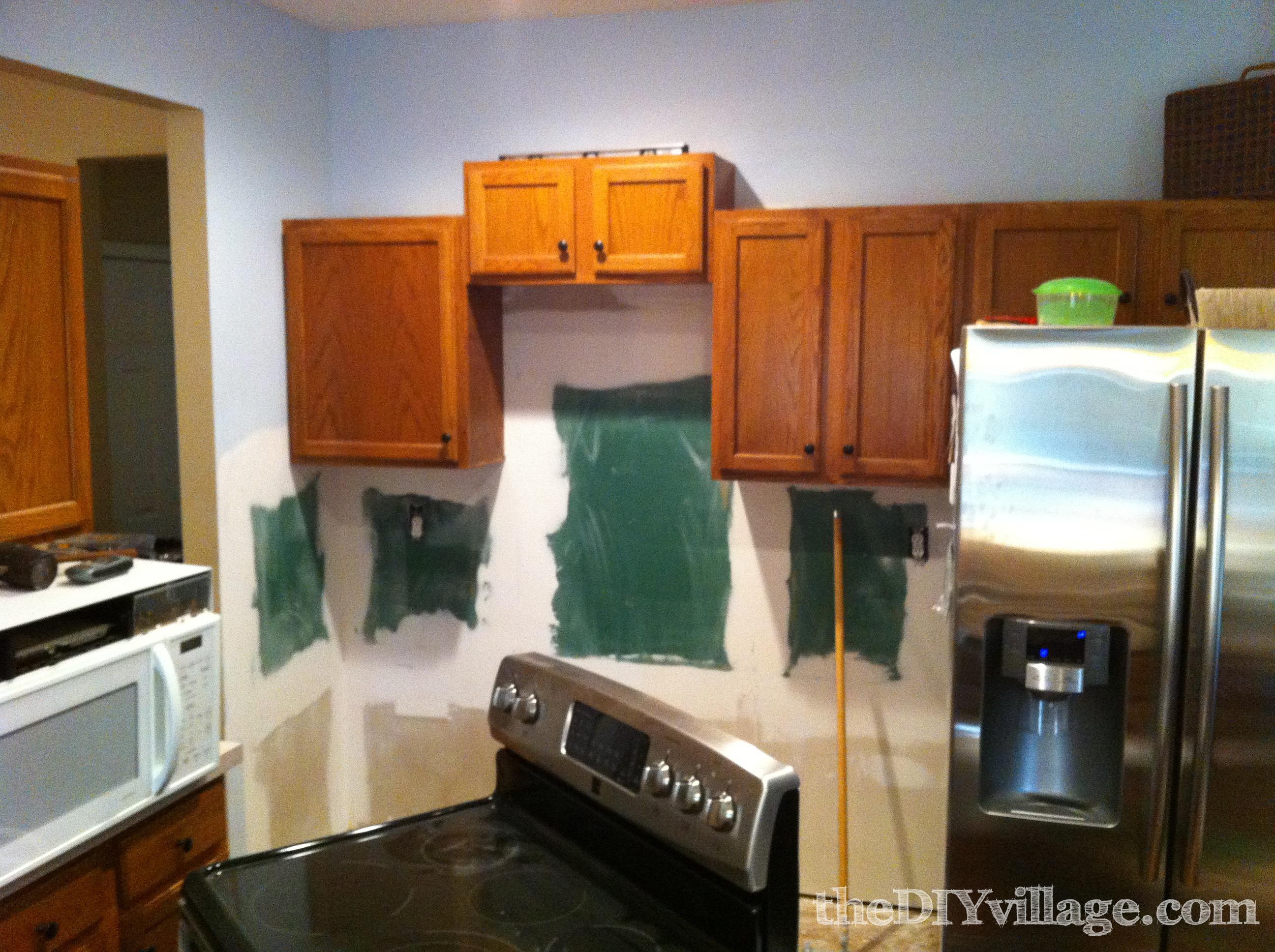 How To Install Cabinets In Kitchen Split Face Travertine Tile Backsplash The Diy Village