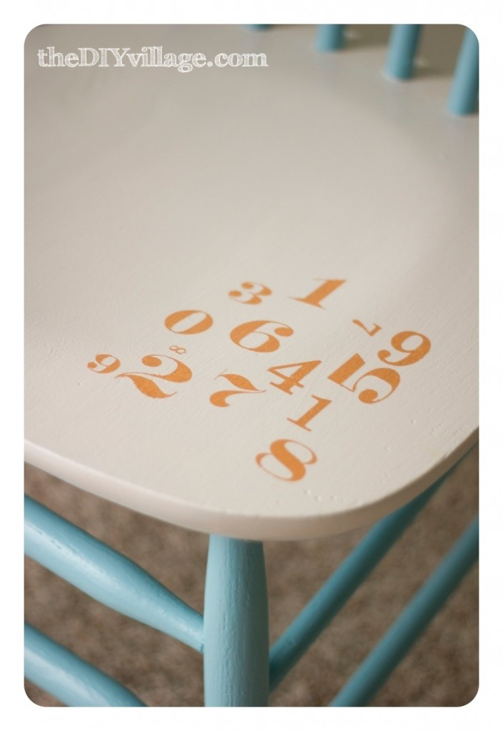 PB Inspired Number Chair