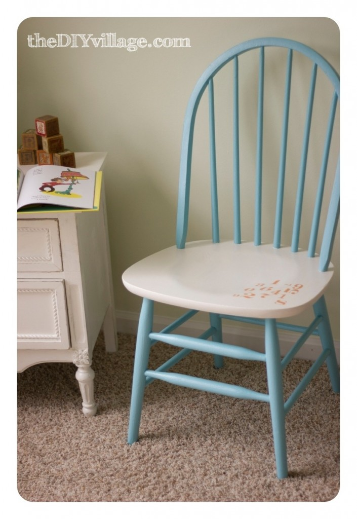 Pottery Barn Inspired Number Chair