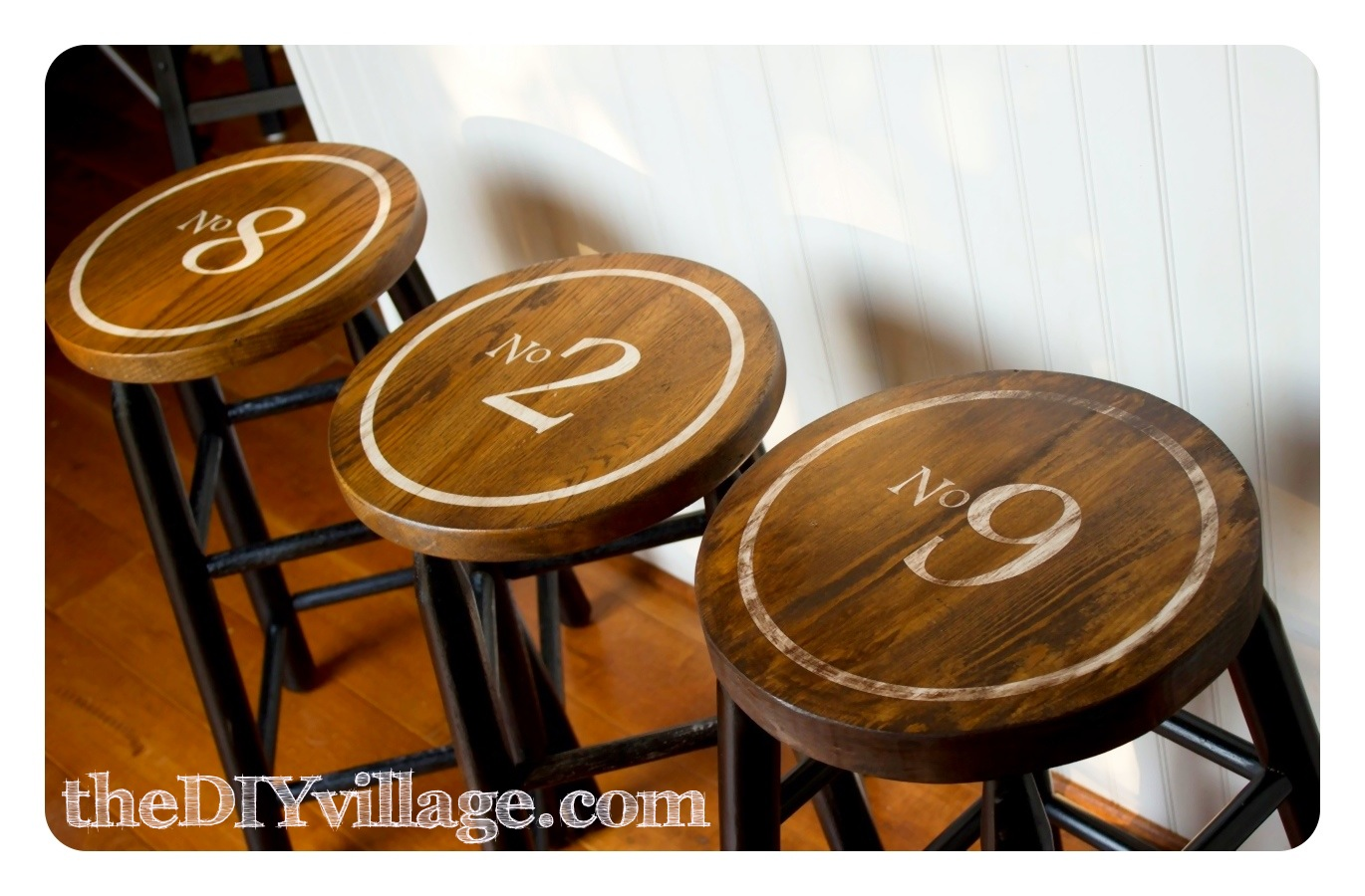 Wonderful image of These bar stools were inspired by some cute industrial stools I had  with #783E0C color and 1370x900 pixels