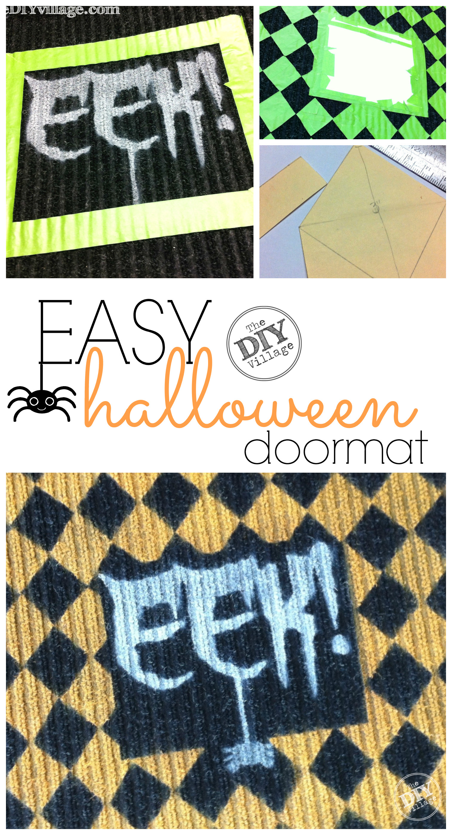 How to make an adorable custom Halloween Door Mat perfect for the even the spookiest Halloween Festivities!