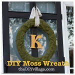 DIY Sheet Moss Wreath