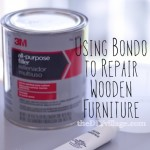 Bondo to the Rescue {Using Bondo to Repair Furniture}