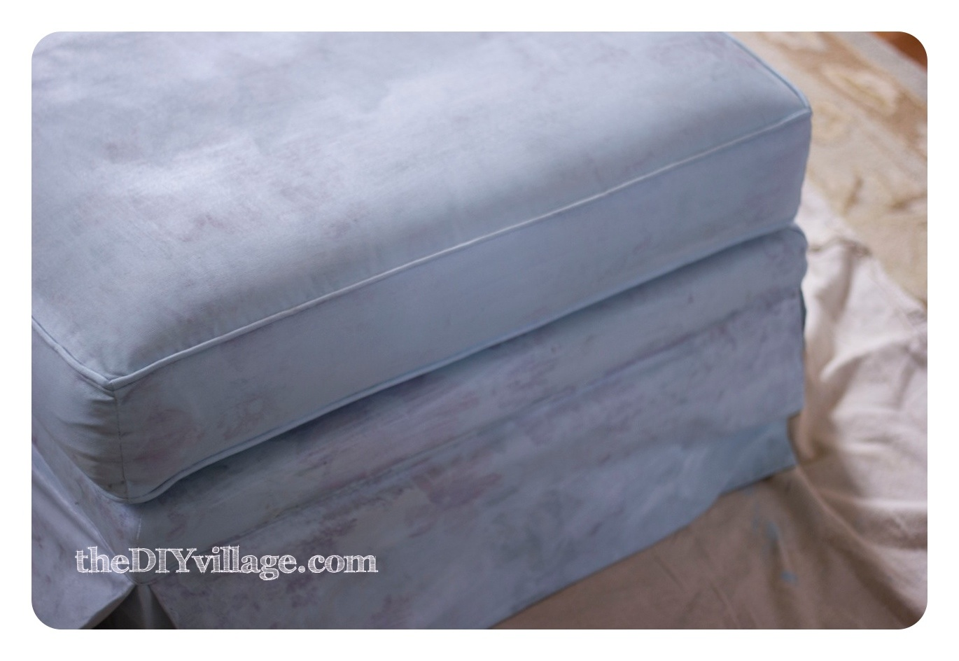 Painting Upholstered Furniture { Painting Fabric }