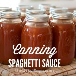 Canning Spaghetti Sauce { Home Preserving }