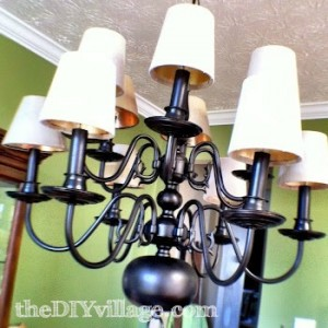Up-cycled chandelier