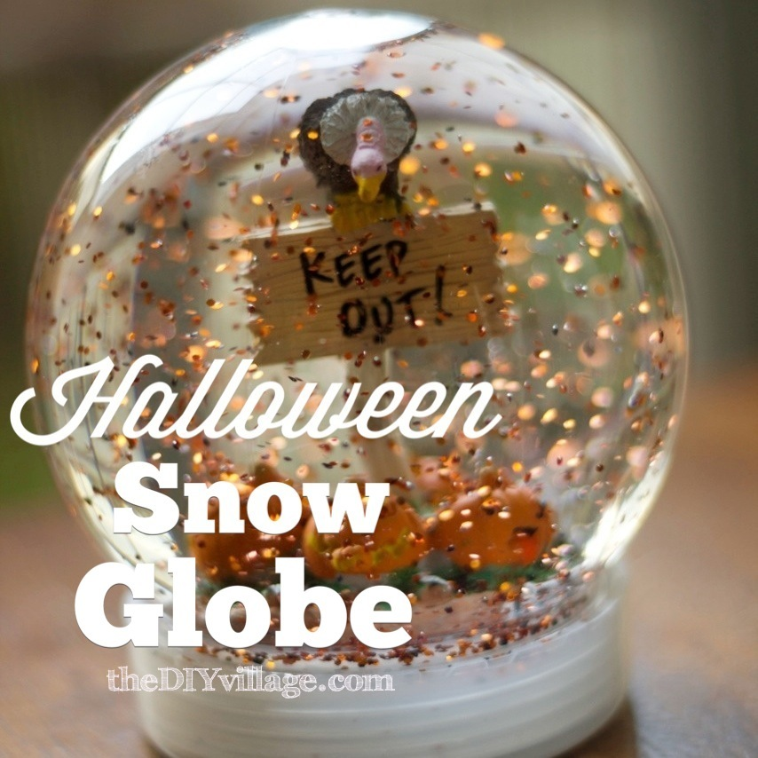 Halloween Snow Globe { How to make a snow globe } - the ...