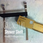 Grundtal Shower Shelf – { IKEA Hack }
