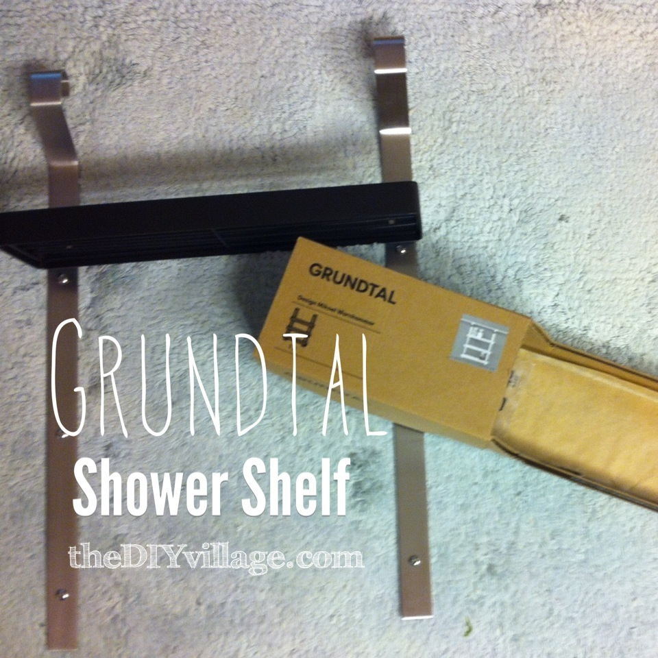 Grundtal Shower Shelf - { IKEA Hack } - the DIY village