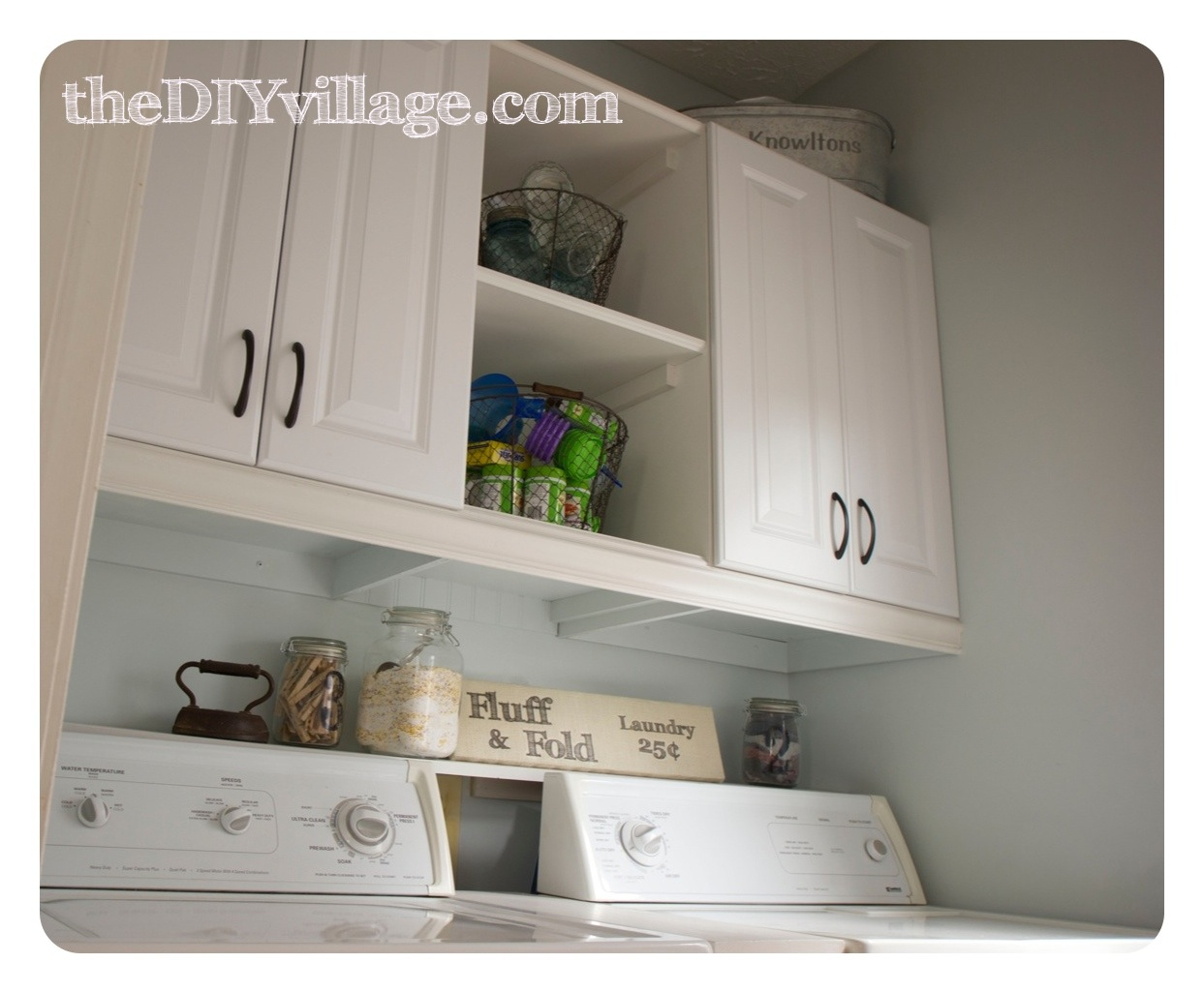 laundry room makeover the diy village. Black Bedroom Furniture Sets. Home Design Ideas