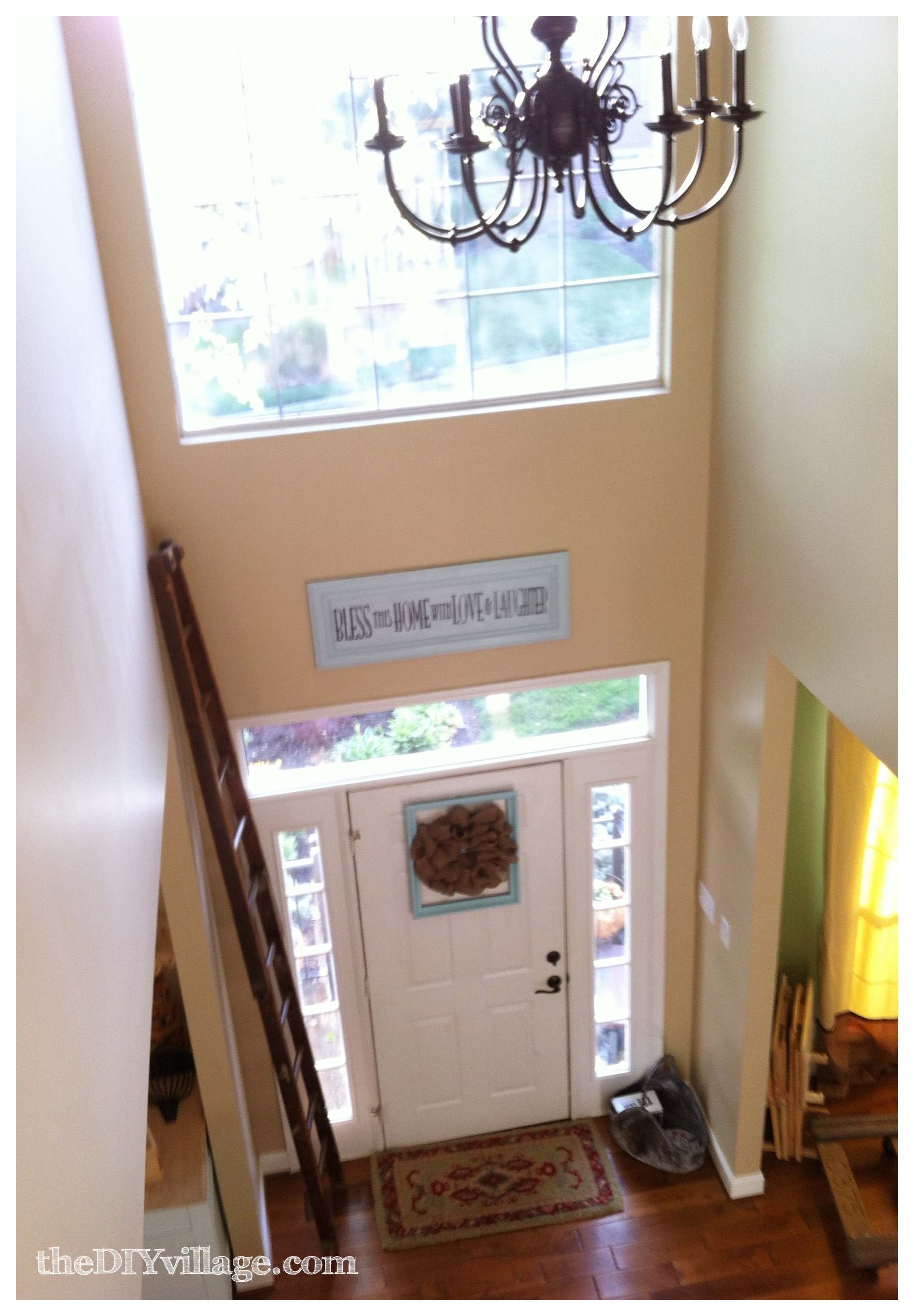 Home tour upstairs hallway nook the diy village for How we can decorate our home