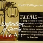 Definition of Family (Personalized Tile Art)