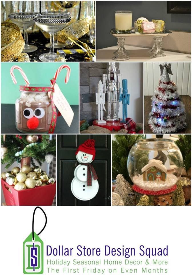Thrifty Christmas dollar store craft ideas for your home.
