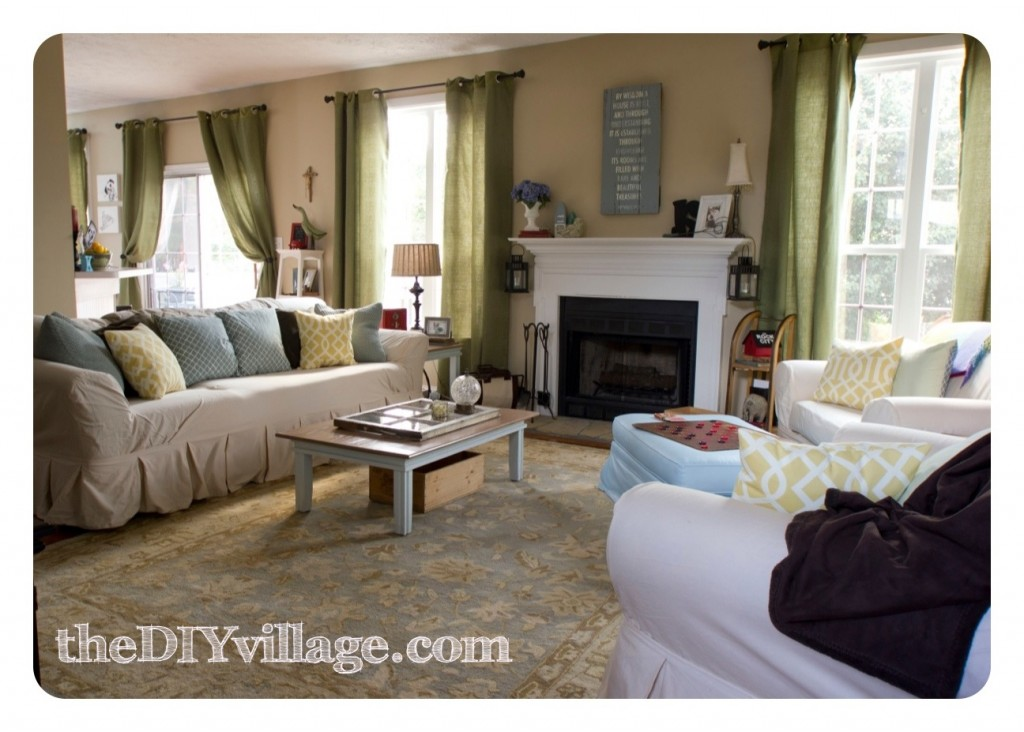 FamilyRoom-theDIYvillage-1024x732 Home tour in Tennesee.... Lots of diy projects!