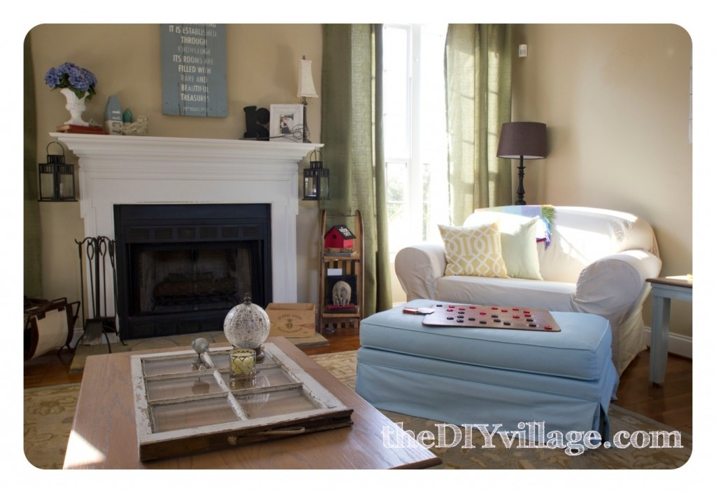 FamilyRoom-theDIYvillage1-1024x705 Home tour in Tennesee.... Lots of diy projects!