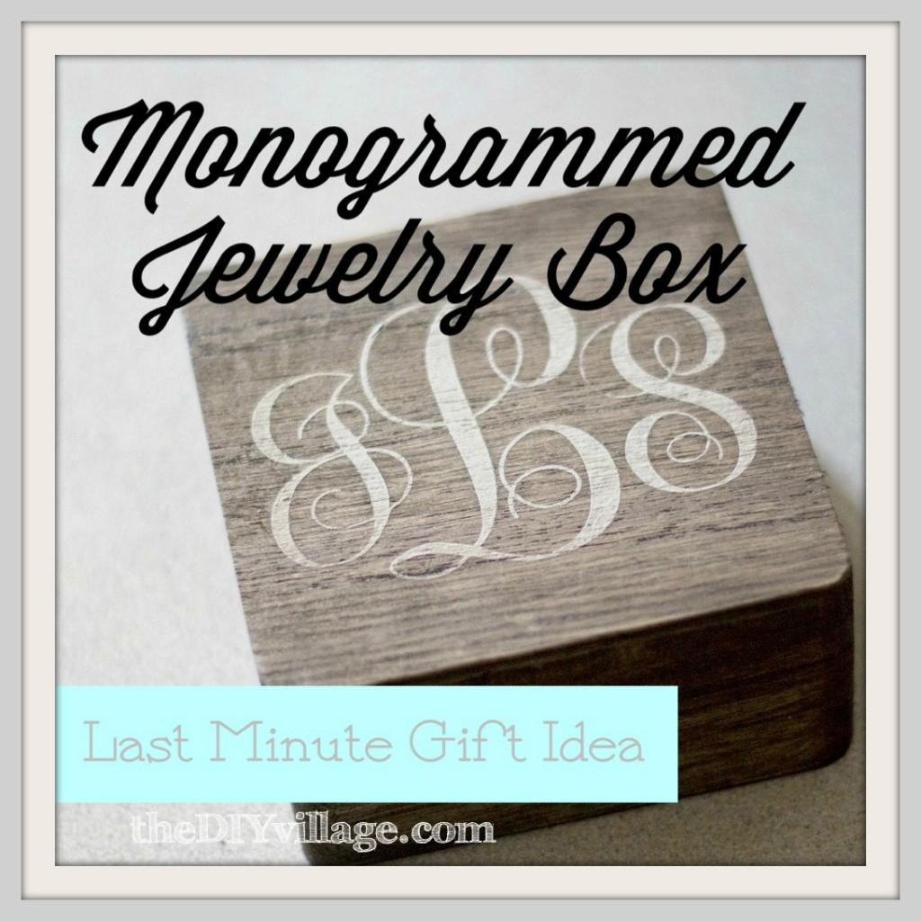 Monogrammed Jewelry Box LMGI