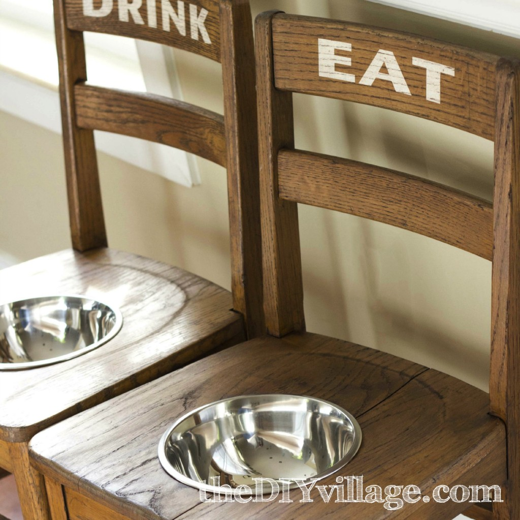 DIY Dog Bowl Chairs - Elevated Feeding Station