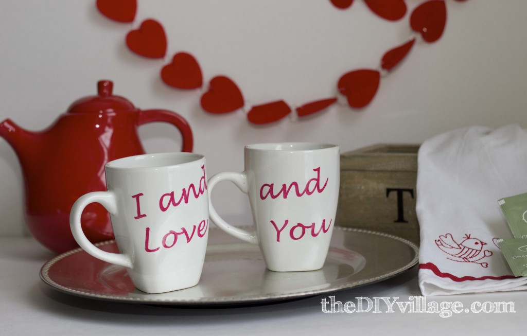 Custom Coffee Mug Valentine by: theDIYvillage.com