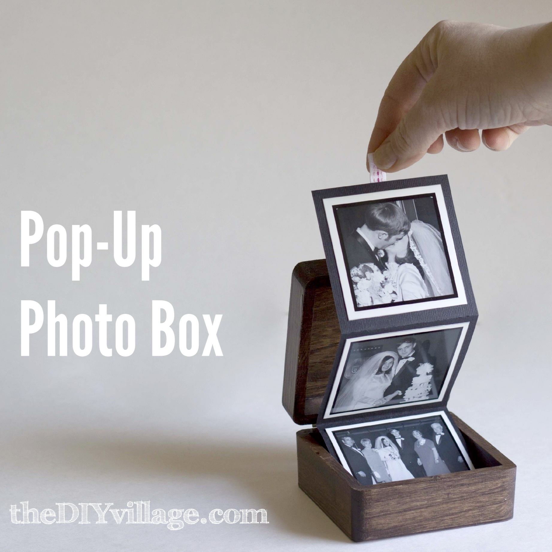Pop Up Photo Box Gift Idea The Diy Village