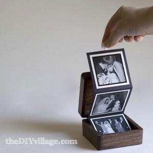 Pop Up Photo Box - Gift idea by: theDIYvillage.com