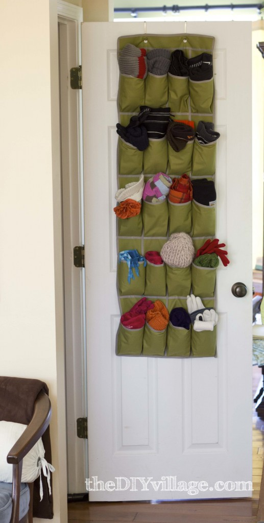Over the Door Organizer by: theDIYvillage.com