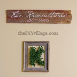 DIY Wall Art Tutorial by The DIY Village