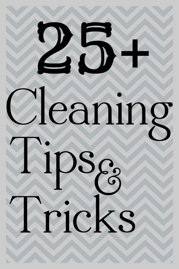 25+ Cleaning Tips and Tricks at theDIYvillage.com