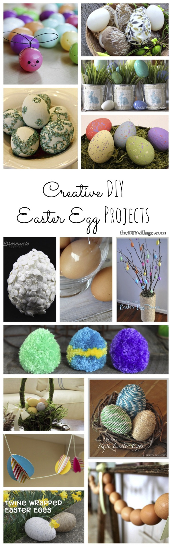 Creative DIY Easter Egg Projects at: theDIYvillage.com