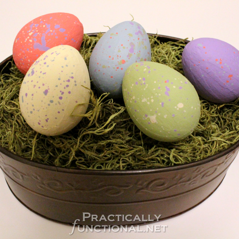Painted Paper Mache Eggs By Practically Functional