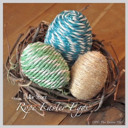 Rope Easter Eggs by OPC's The Better Half