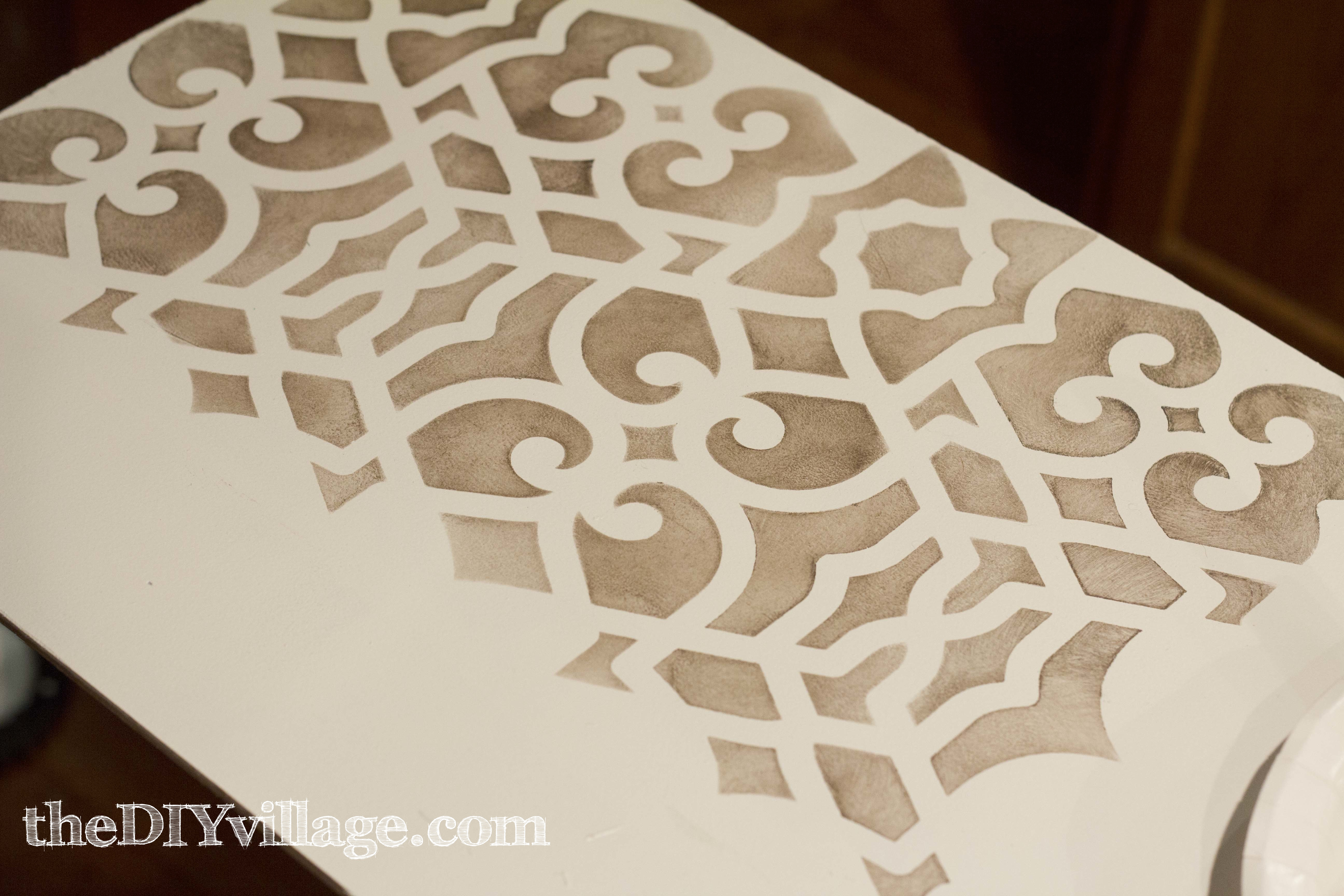 kitchen pantry update-royal design studio stencil review-thediyvillage