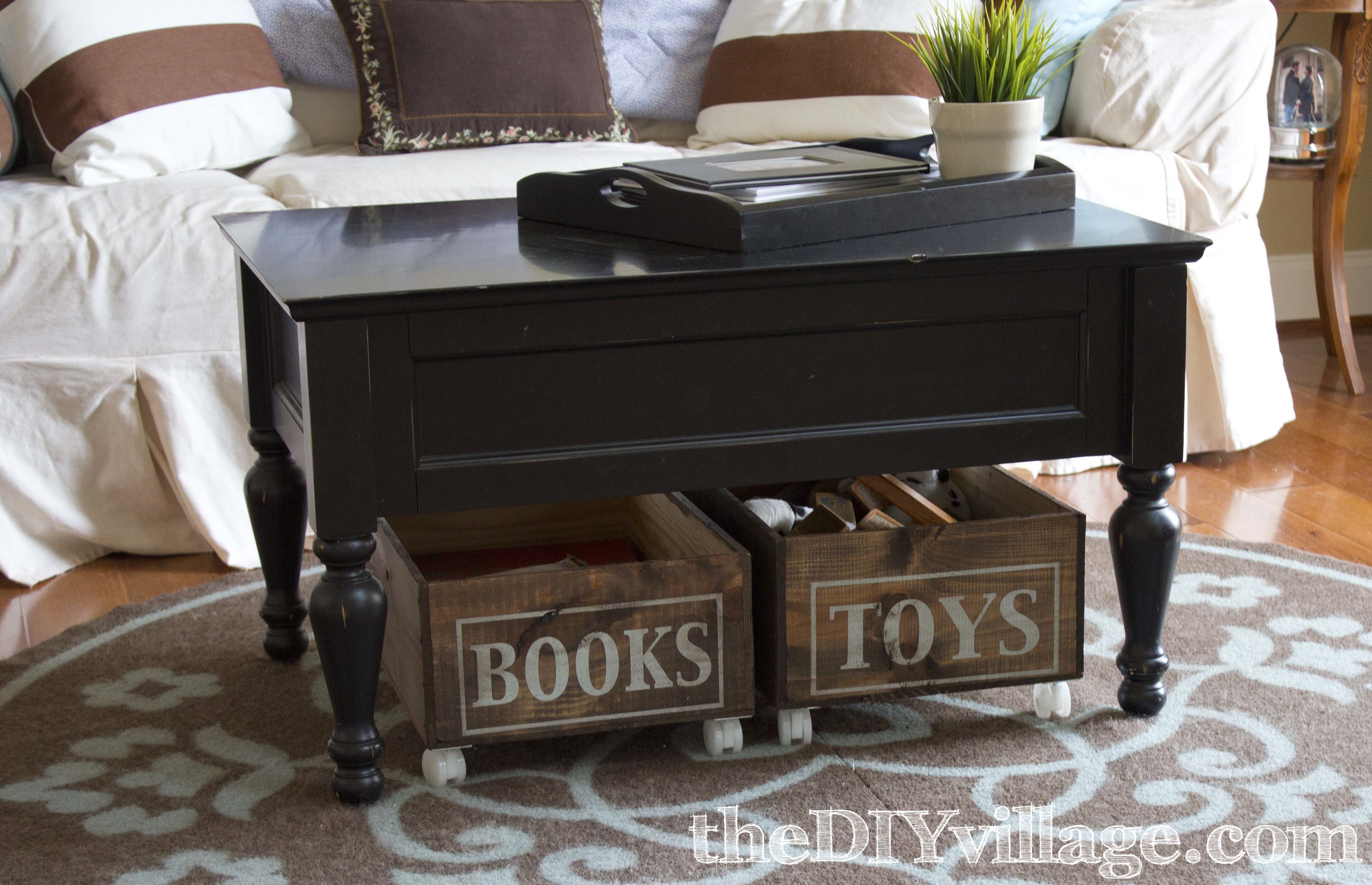 Up Cycled Wine Crates To Rolling Storage By: TheDIYvillage.com