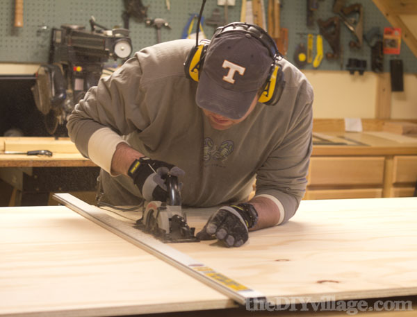 Cutting Wood for Pantry Cabinets