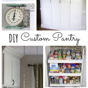 DIY Custom Pantry Makeover revamping a builder grade closet style pantry. Popular Pins
