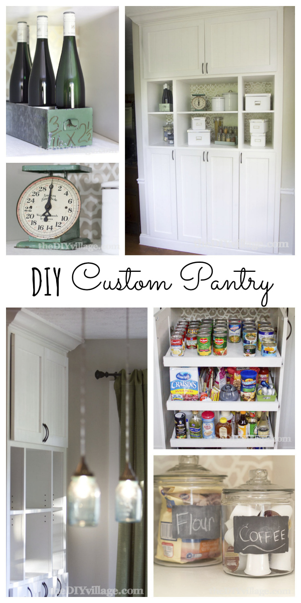 Custom kitchen pantry reveal the diy village diy custom pantry makeover by thediyvillage solutioingenieria Image collections
