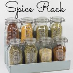 DIY Spice Jar Rack by theDIYvillage.com