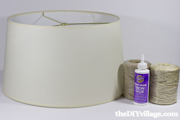 DIY Jute/Sisal Wrapped Drum Shade at theDIYvillage.com